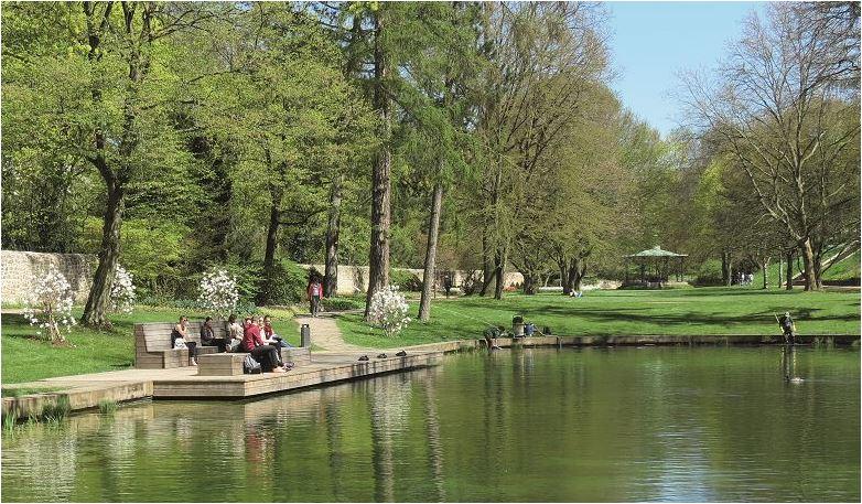 Der Schlossgartenteich in Fulda nach  der Umgestaltung.