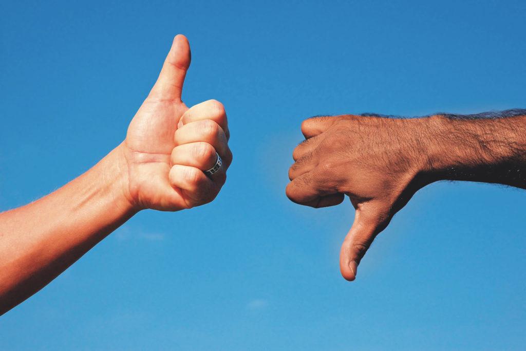 Top oder Flop: Bewertungen im Internet können Kunden generieren, vorausgesetzt die Bewertungen sind objektiv. Foto: Imago