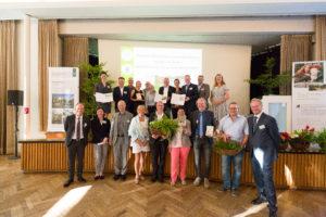 """Die Gewinner des Wettbewerbs """"Viertel vor Grün""""."""