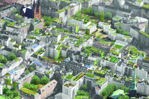 So könnte Hamburg in wenigen Jahren von oben aussehen. Foto: Matthias Friede