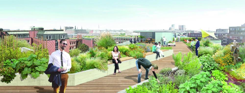 Entspannen und Genießen in der Mittagspause: Im Grünen, ohne in den nächsten Park zu gehen. Foto: TH Treibhaus Landschaftsarchitektur